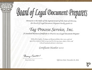 Legal Document Preparer Certificate